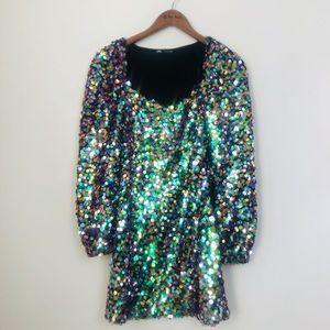PRETTY PARTY GIRL SEQUIN DRESS